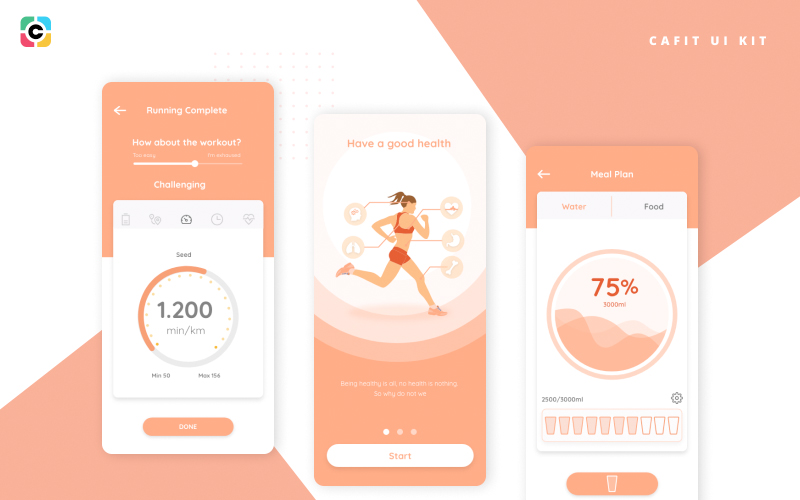 Cafit Workout Ui Kit Free Download