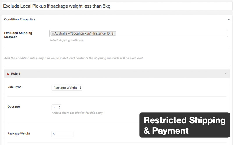 Restricted Shipping And Payment For Woocommerce