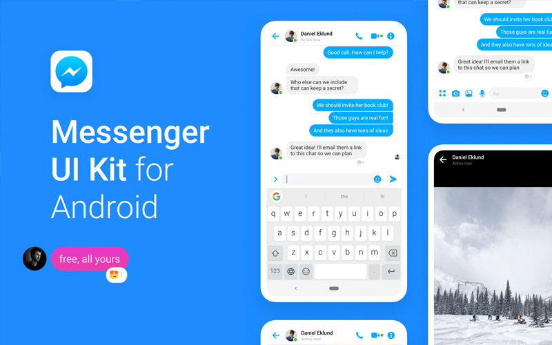 Facebook Messenger Ui Kit For Android