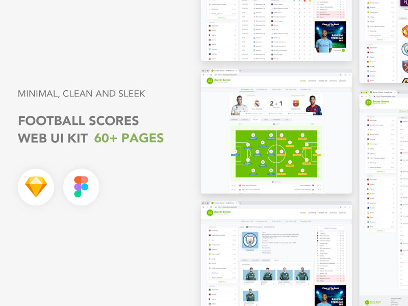 Soccer Scores Football Scores Web Ui Kit