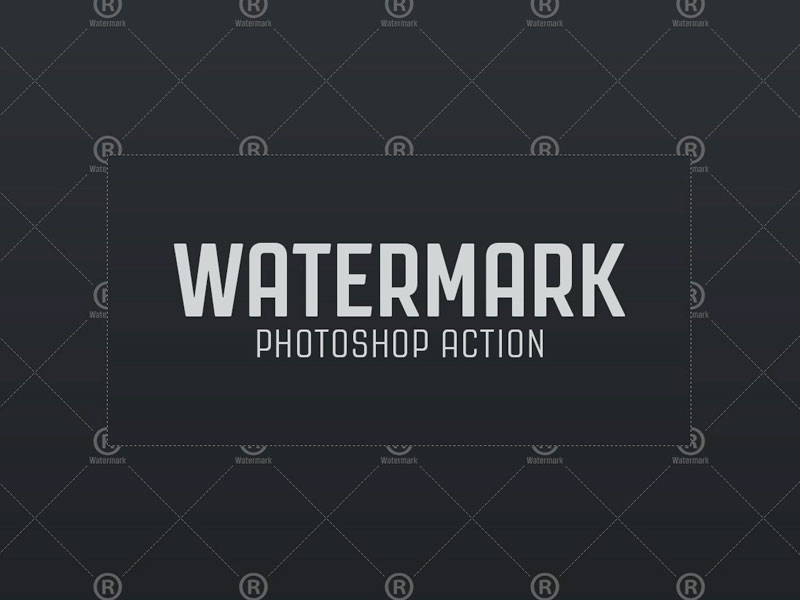 Watermark Photoshop Action