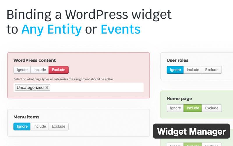 Widget Manager WordPress Widgets Management System