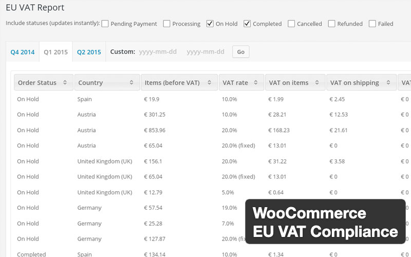 Eu Vat Compliance Assistant For Woocommerce