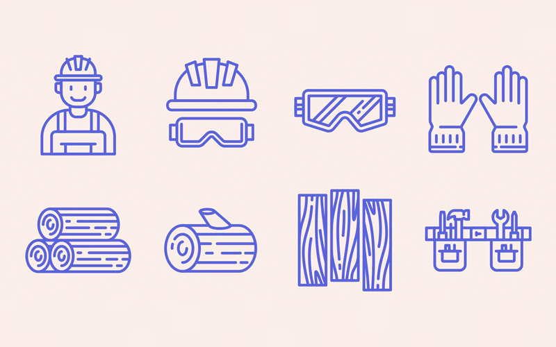 Carpenter Vector Icons