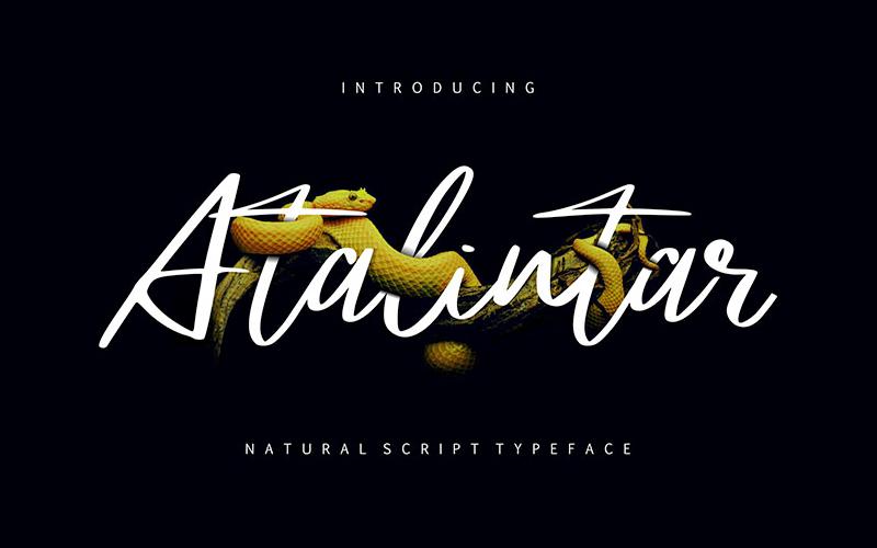 Atalintar Natural Script Font