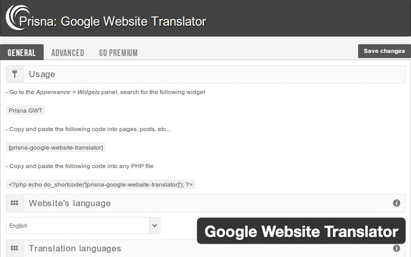 Google Website Translator