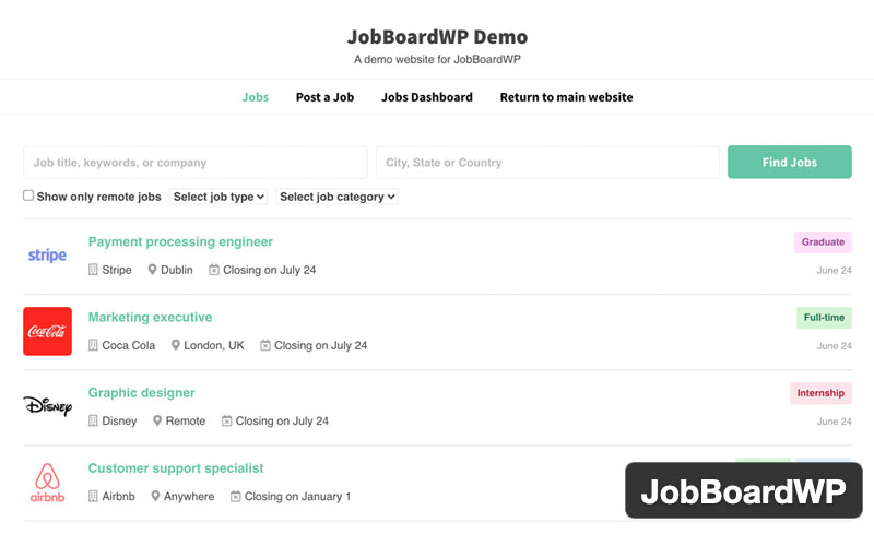 Jobboardwp Job Board Listings And Submissions
