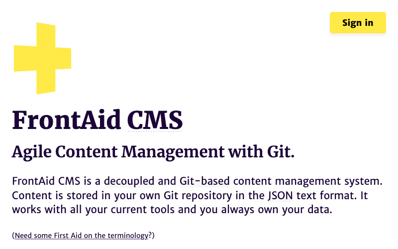 Front Aid Cms