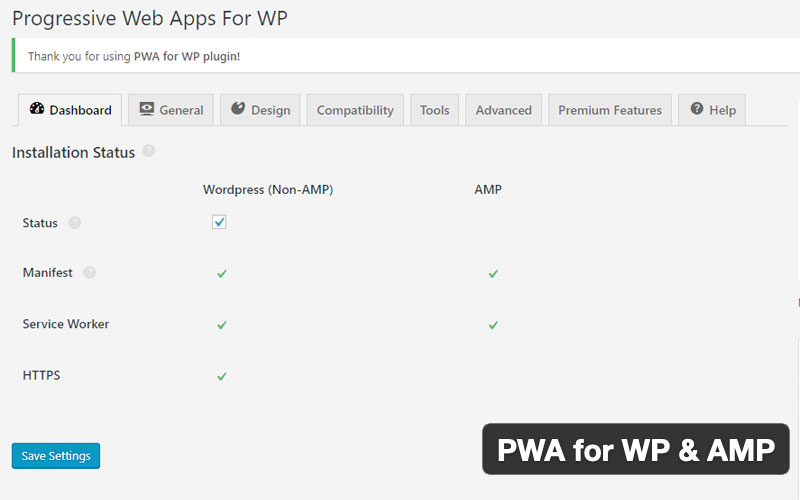 Pwa For Wp & Amp