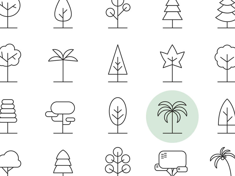 20 Tree Vector Icons