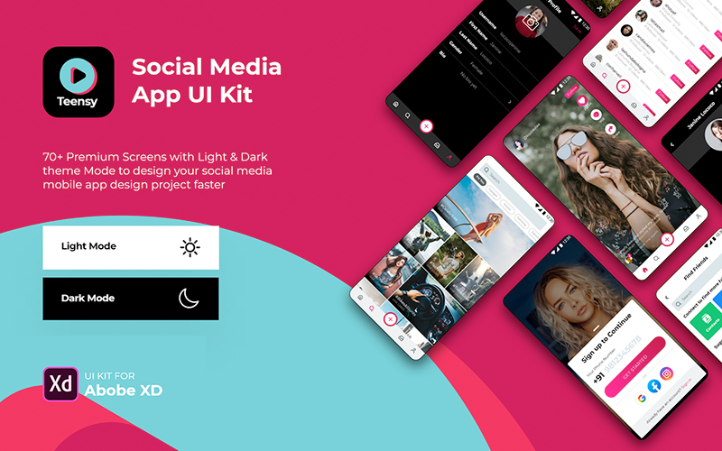Teensy Social Media App Ui Kit