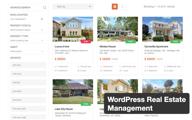 Wordpress Real Estate Management