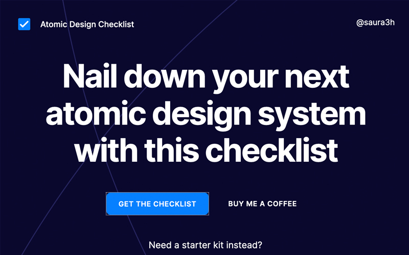 Atomic Design Checklist