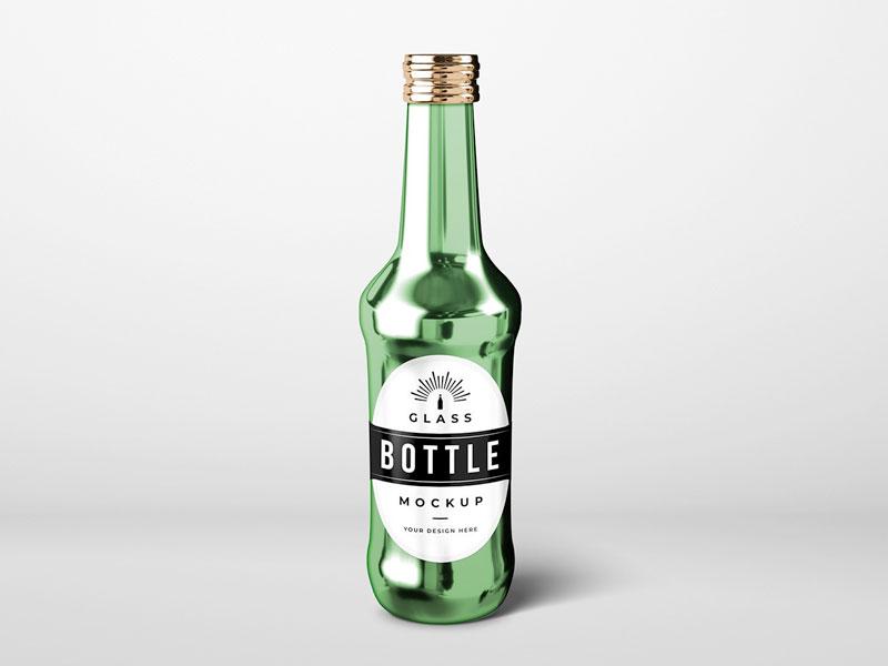 Glass Drinks Bottle Mockup