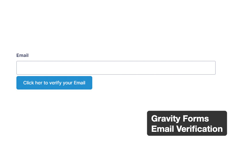 Gravity Forms Email Verification
