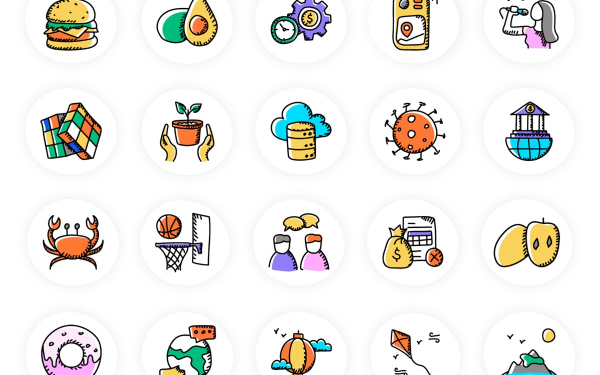500 Doodle Icons