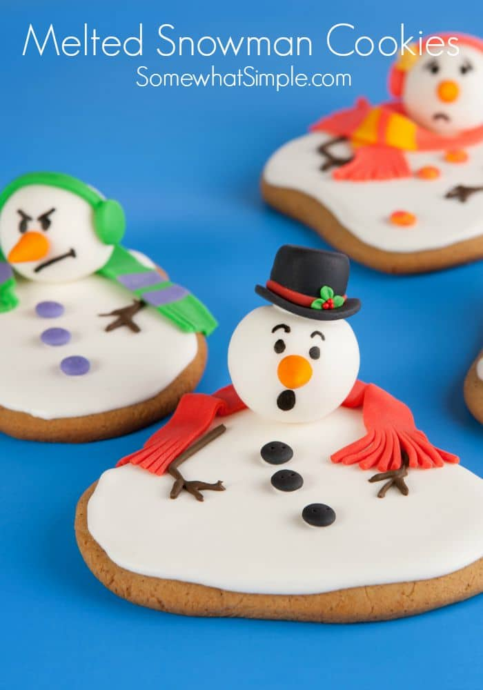 Easy Snowman Snack: Melted Snowman Cookies