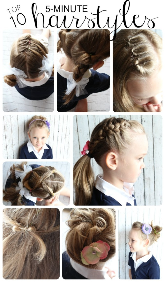 10 easy little girls hairstyles - cutest ideas in 5 minutes