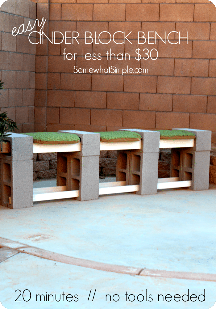 How To Make A Cinder Block Bench Build In 10 Min