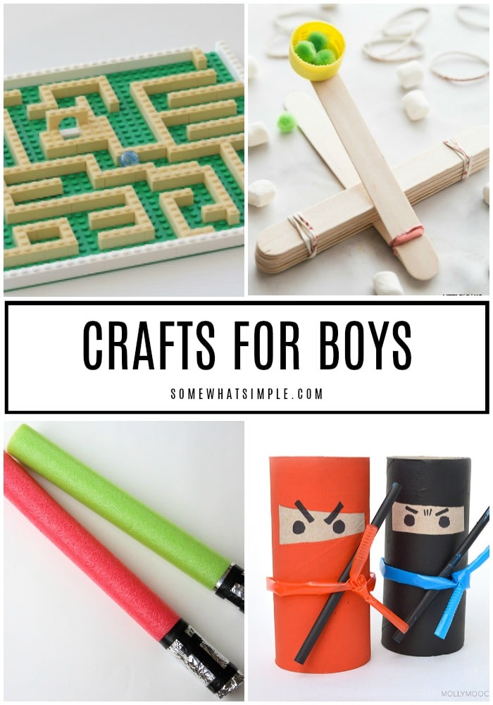10 Craft Ideas For Boys Handmade Activities Somewhat Simple