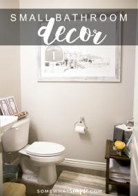 How to Decorate a Small Bathroom - Decor Ideas and Tips ...