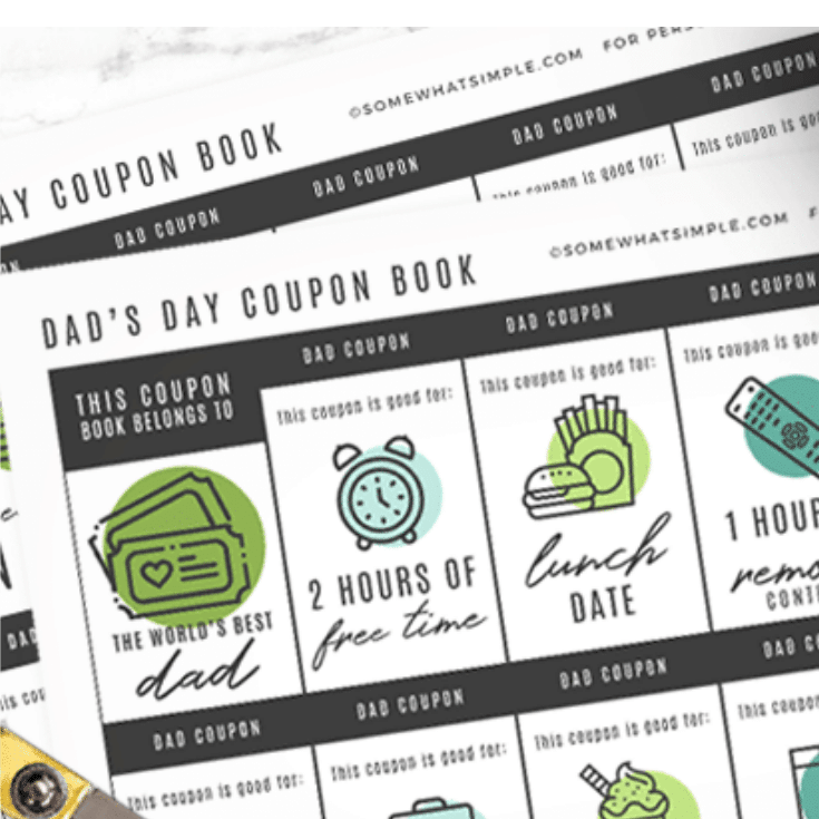 father's day coupon book free printable