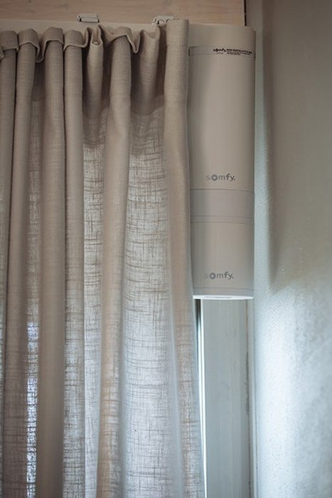 somfy electric curtains motorised