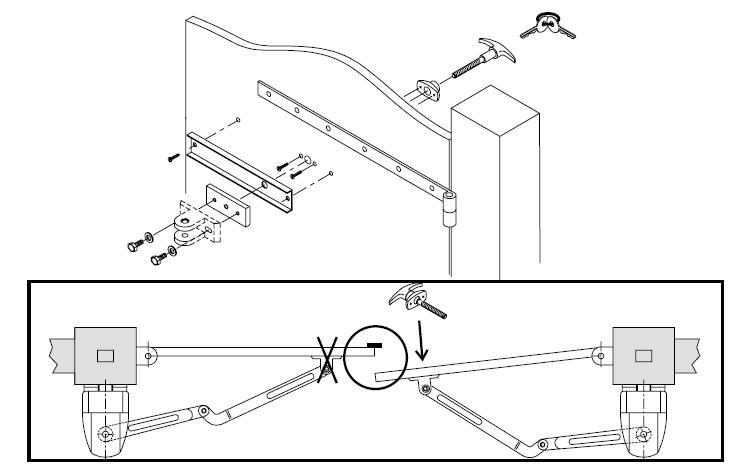 Apertura manuale a chiave per cancelli automatici SGA