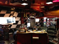 Motorized Shades Turn a Garage Into the Perfect Man Cave