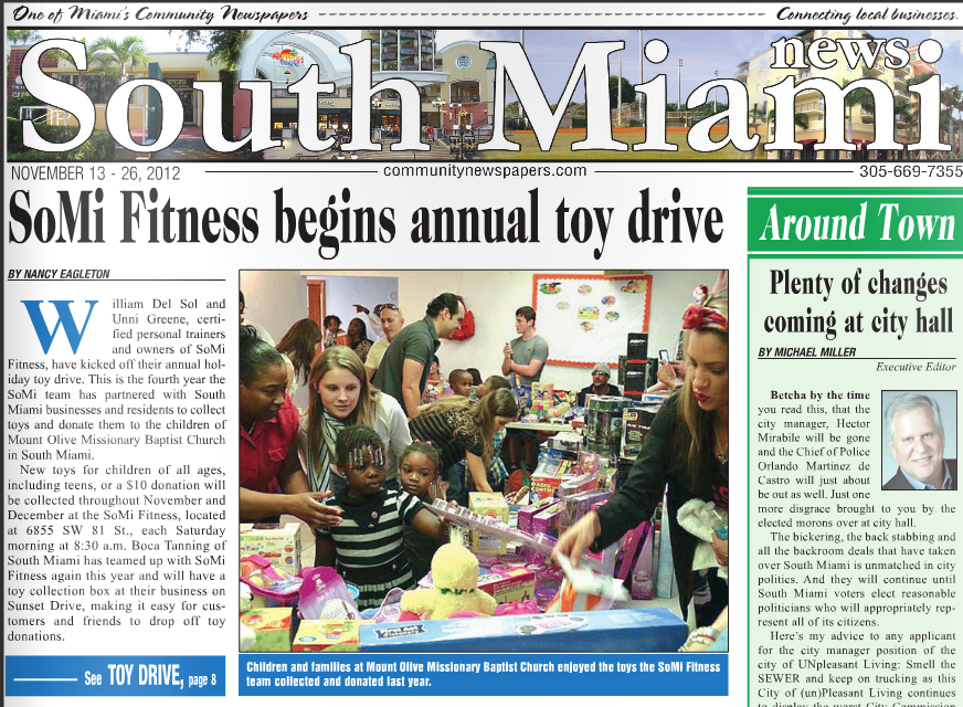 SOMi Fitness begins annual toy drive