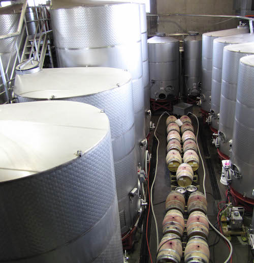 Winemaking 101 - Fermentation & Maceration can take place in larger tanks before moving the wine to smaller aging vessels.