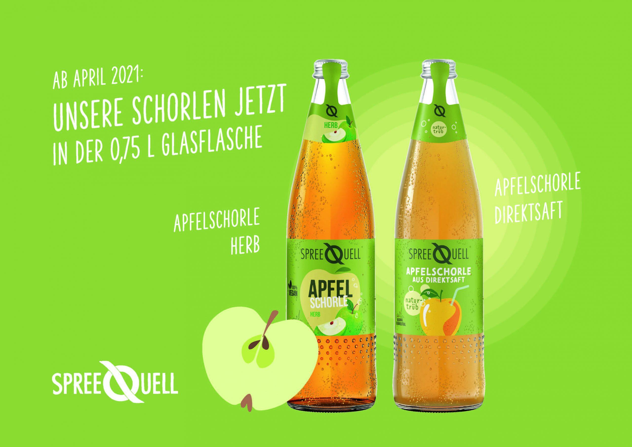 Apfelschorle herb und Direktsaftschorle von Spreequell