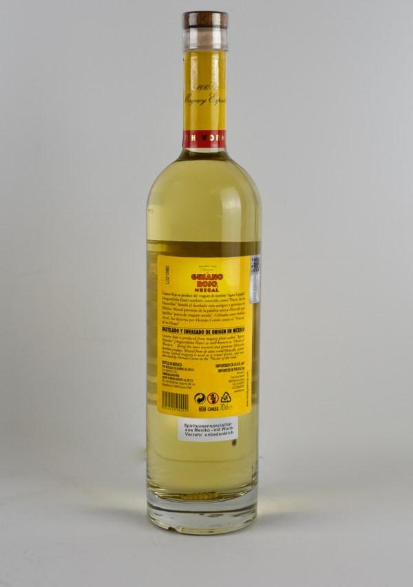 Mezcal Gusano Rojo 38% 0,7l