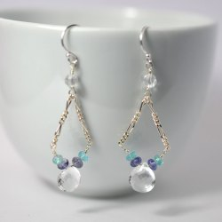 Rock crystal earrings (2)