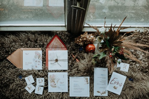 Styled Shoot Winter Bohemian Papeterie