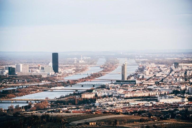 Aussicht Kahlenberg Donau