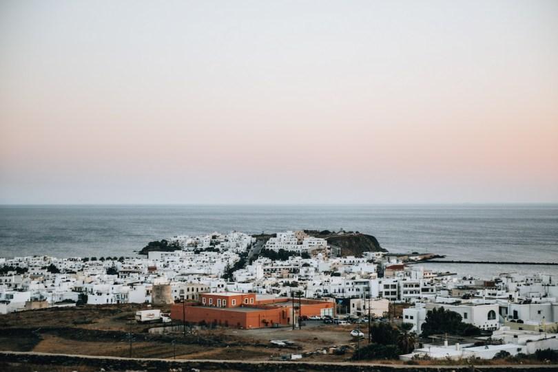 Ausblick Tinos Stadt