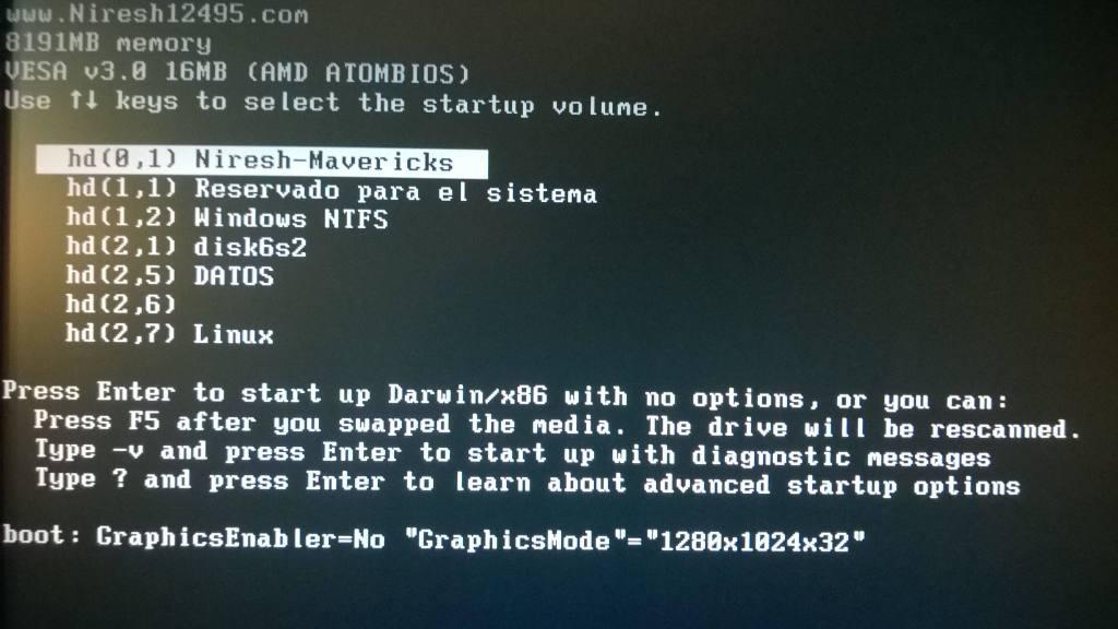 Comenzando la instalacion de OS X Mavericks en tu PC