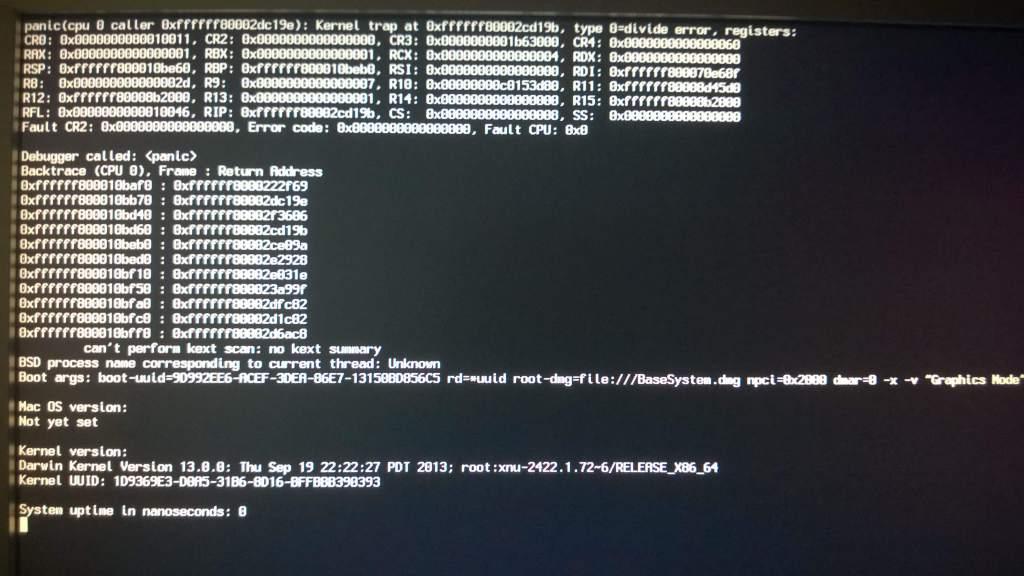 Kernel panic en la instalacion de OS X Mavericks en tu PC