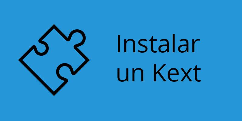 Como instalar un kext en Mac OS X en tu PC, hackintosh.