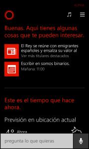 Cortana te muestra el calendario
