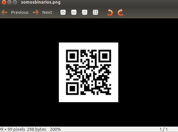 Nuestro codigo QR creado