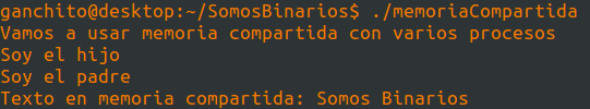 Usando memoria compartida en c para un programa paralelo