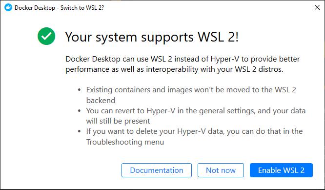 WSL 2 la mejor manera de gestionar docker en Windows