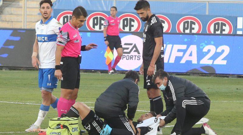 Matías Zaldivia sale lesionado en el empate entre Colo Colo y U. Católica