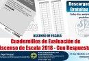 Cuadernillos de evaluación con respuestas, Concurso para el Ascenso de Escala 2018