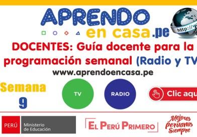DOCENTES: Guía docente para la programación SEMANA 9 (Radio y TV) [APRENDO EN CASA]