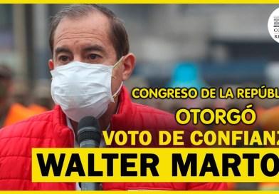 ¡Último minuto!: Congreso de la República OTORGA voto de confianza al Gabinete Walter Martos
