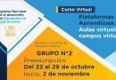 """Participa en el curso """"Plataformas de aprendizaje: aulas virtuales, campus virtual"""", preinscripción de participantes del 23 al 29 de octubre"""