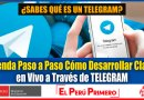 ¿Qué es un Telegram? Aprenda Paso a Paso Cómo Desarrollar Clases en Vivo a Través de TELEGRAM [Conócelo aquí]